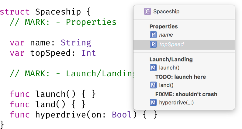 207: Annotating Swift with MARKs, TODO's and FIXME's